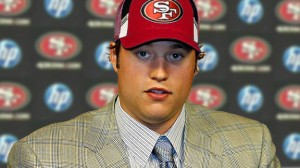 Matthew Stafford introducing himself to the Bay Area media