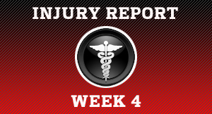 Week 4 Injury Report