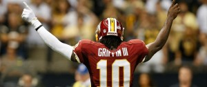 Robert Griffin III was certainly locked in this week during his playoff game against the Falcons, providing 4 TD passes for the Redskins.