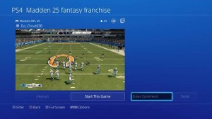 Live streaming and viewing on PS4