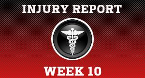 Week 10 injury report