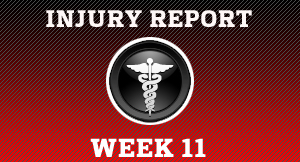 Week 11 injury report