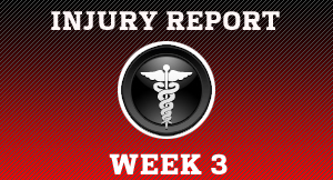 Preseason 4 - Week 3 injury report
