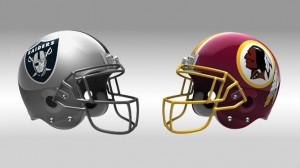 The Raiders host the Redskins in their first ever meeting