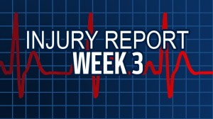 Week 3's Injury Report is here