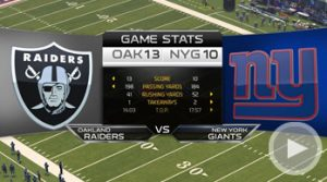 The Raiders take down the Giants with an amazing finish.