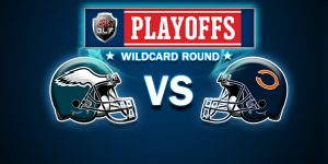 The Philadelphia Eagles go on the road to take on the  Chicago Bears in wildcard match