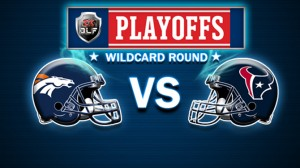 The Denver Broncos take on the Houston Texans in this week's wildcard game