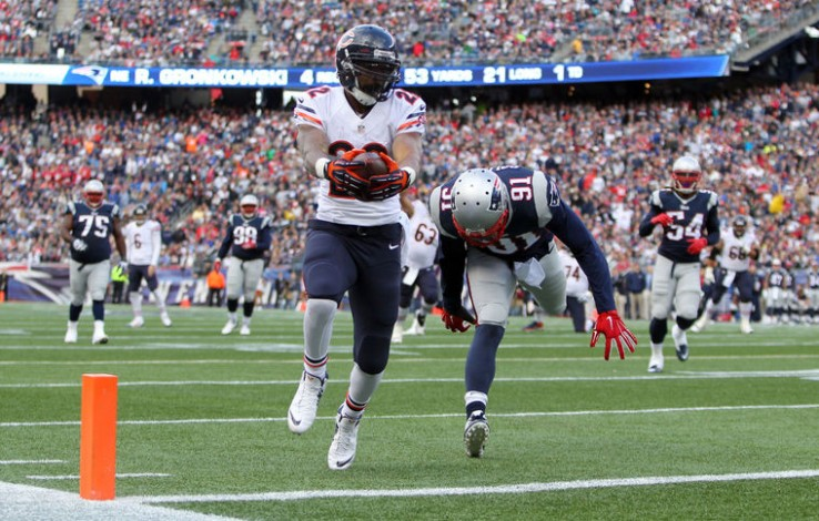 Matt Forte easing his way into the endzone