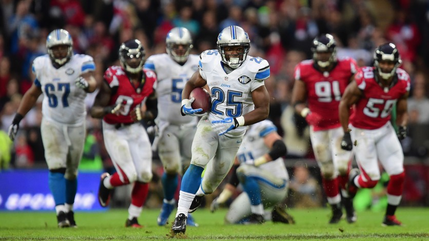 Lions win their first ever playoff win by defeating the Falcons.