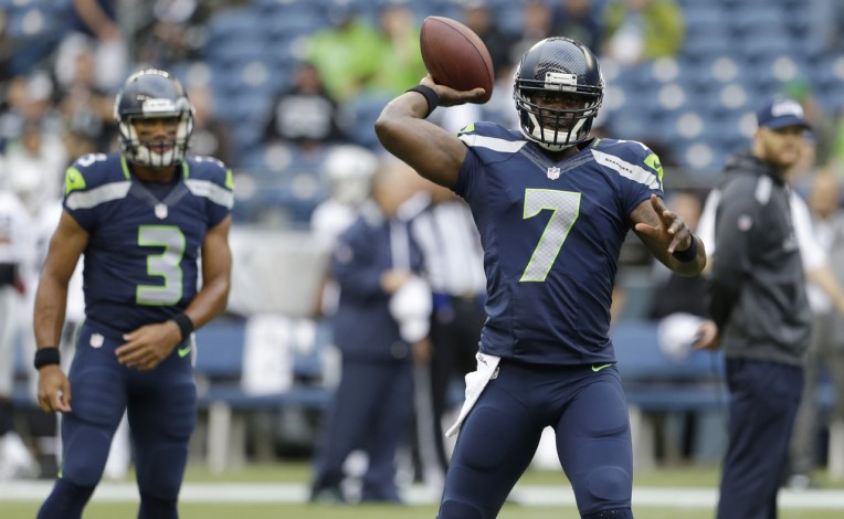 Seahawks backup QB Tarvaris Jackson will get the start vs the Panthers.
