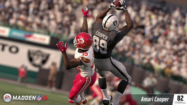 AMARI COOPER (82 OVR) OAKLAND RAIDERS WR (4TH OVERALL) 6'1, 211 POUNDS