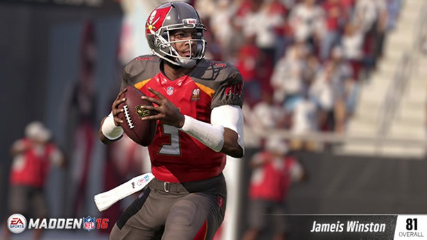 JAMEIS WINSTON (81 OVR) TAMPA BAY BUCCANEERS QB (1ST OVERALL) 6'4, 231 POUNDS