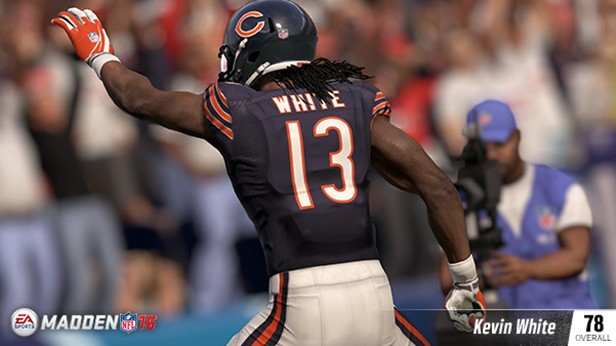 KEVIN WHITE (78 OVR) CHICAGO BEARS WR (7TH OVERALL) 6'3, 215 POUNDS