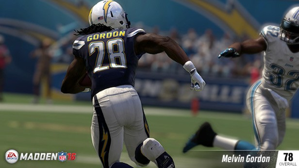 rookie-ratings-madden-16-melvin-gordon MELVIN GORDON (78 OVR) SAN DIEGO CHARGERS HB (15TH OVERALL) 6'1, 215 POUNDS