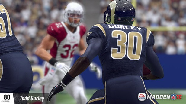TODD GURLEY (80 OVR) ST. LOUIS RAMS HB (10TH OVERALL) 6'1, 222 POUNDS