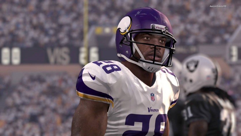 Adrian Peterson had another strong game in this week's win vs the Raiders.