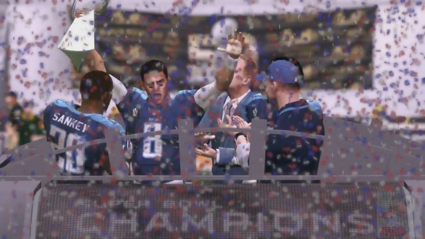 Mariota and the Titans celebrate their 1st 2K OLF Super Bowl