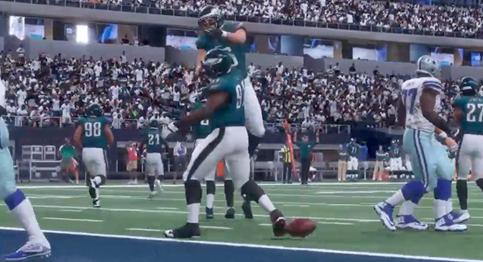 Wentz, Eagles roll over Cowboys 35-10